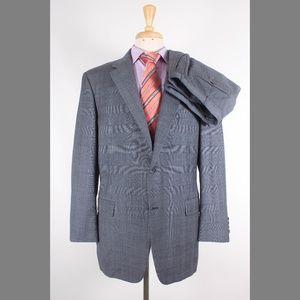 Hickey Freeman Mahogany 44R 35x28 Pleated Suit G87